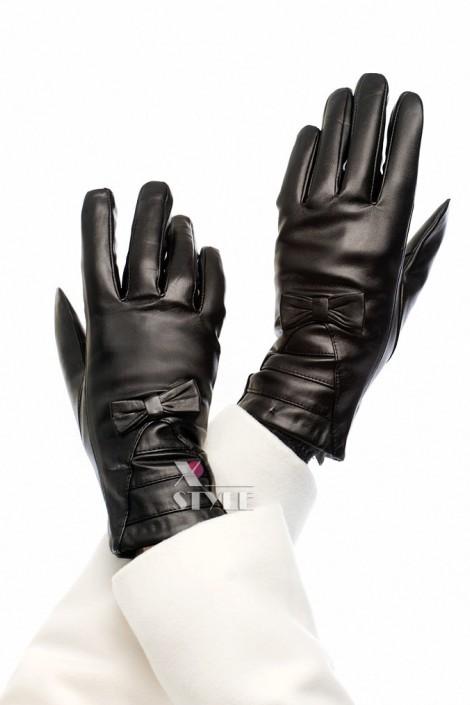Зимние кожаные перчатки с мехом (601134)
