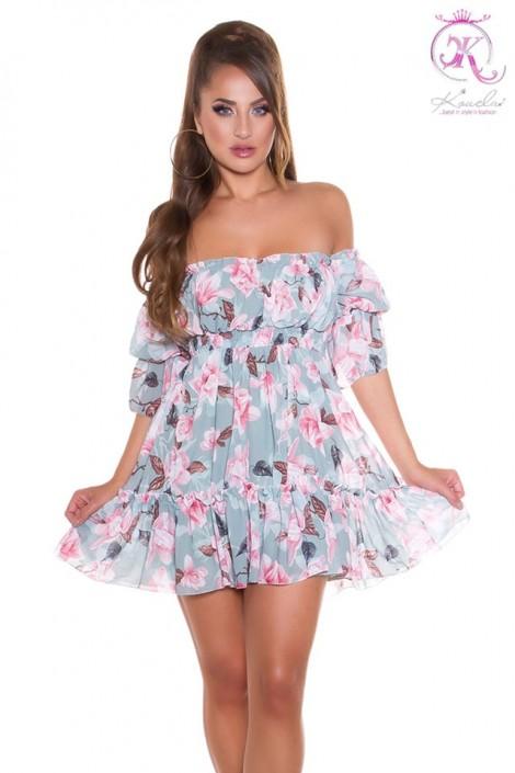 Летнее платье Babydoll с цветочным узором KouCla (105509)
