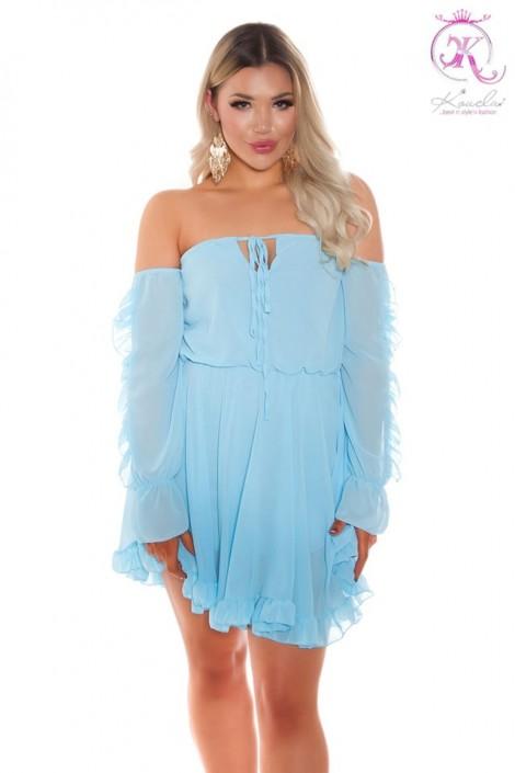 """""""Воздушное"""" платье BABYDOLL бирюзового цвета (105504)"""