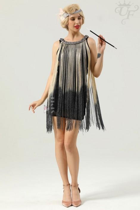 Короткое платье с бахромой в стиле 1920х U5522 (105522)