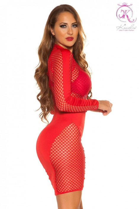 Облегающее красное платье KouCla (105380)
