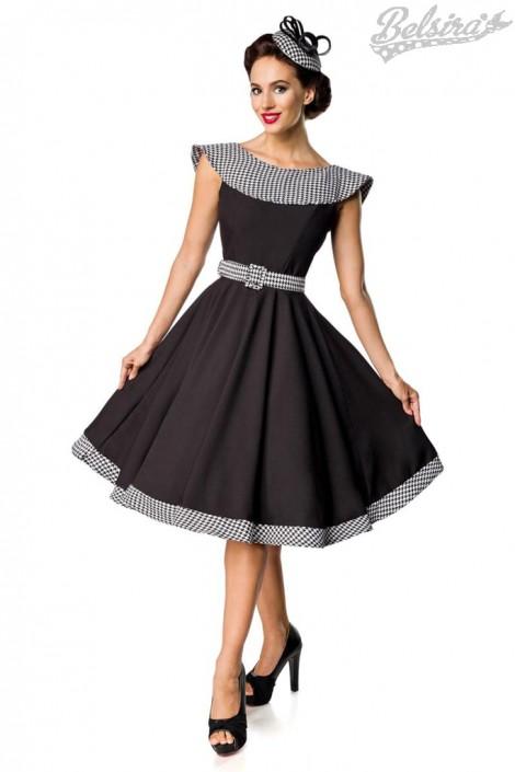 Ретро платье с воротником и поясом Belsira (105418)
