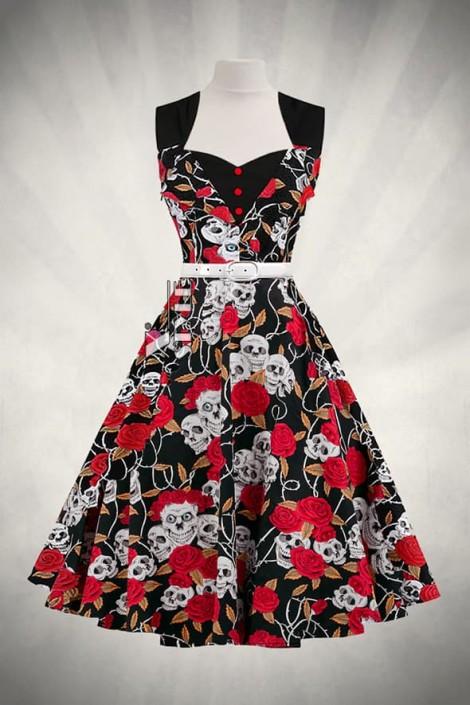 Платье Rockabilly с поясом X436 (105436)