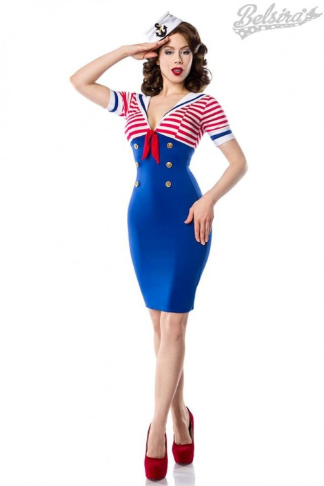 Платье ретро в морском стиле B5443 (105443)