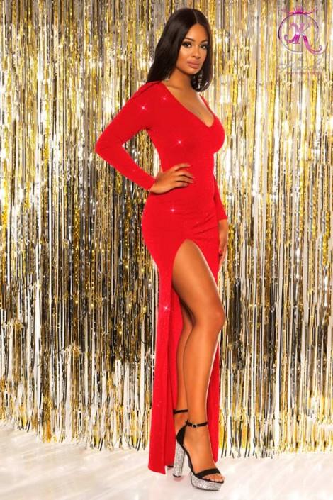 Длинное вечернее платье с блестками KouCla (105447)