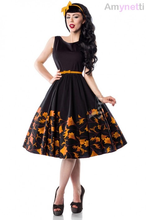 Платье Pin-Up с цветочным узором Amynetti (105457)