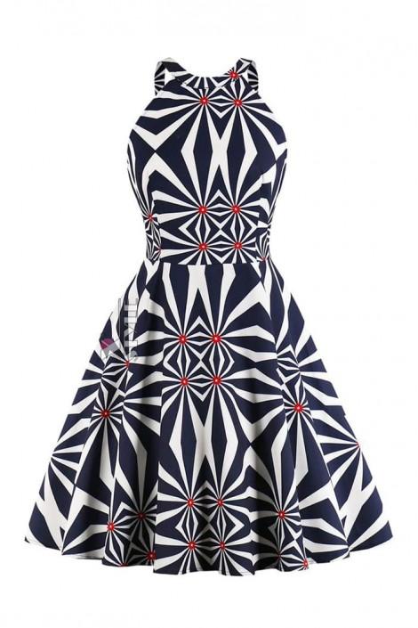 Яркое платье с рисунком XC5468 (105468)