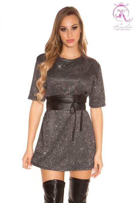 Короткое платье с блестками KC446 (105446)