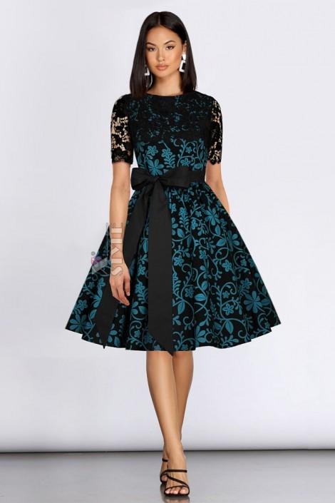Винтажное платье с ажурной шалью XC5463 (105463)