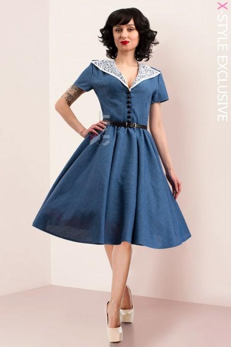 Винтажное льняное платье X5353 (105353)