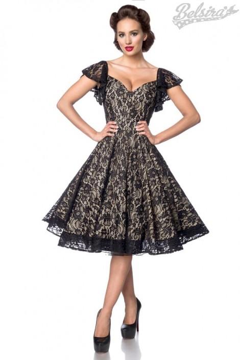 Ажурное винтажное платье с бретелями B5483 (105483)