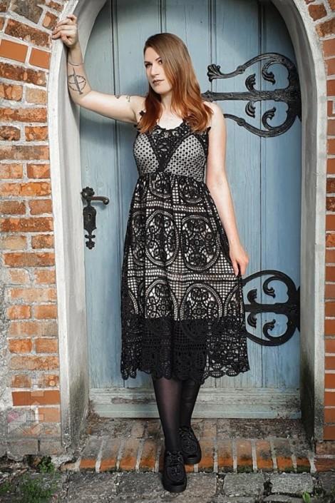 Платье с кружевом Ocultica (105490)