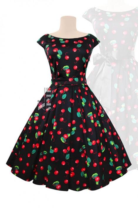 Платье Рокабилли с карманами и поясом XTC5356 (105356)