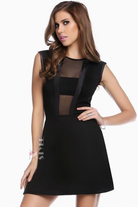Черное короткое платье XC5112 (105112)