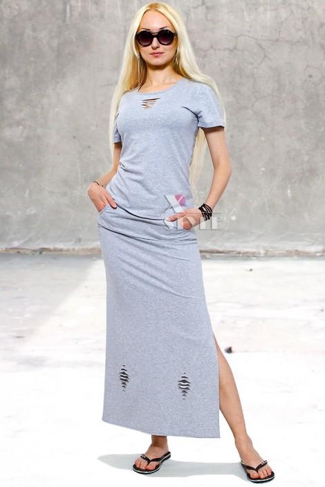 Летняя футболка и юбка с прорезями (118013)
