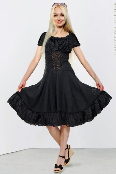 Льняное платье со шнуровкой Xstyle (105129)