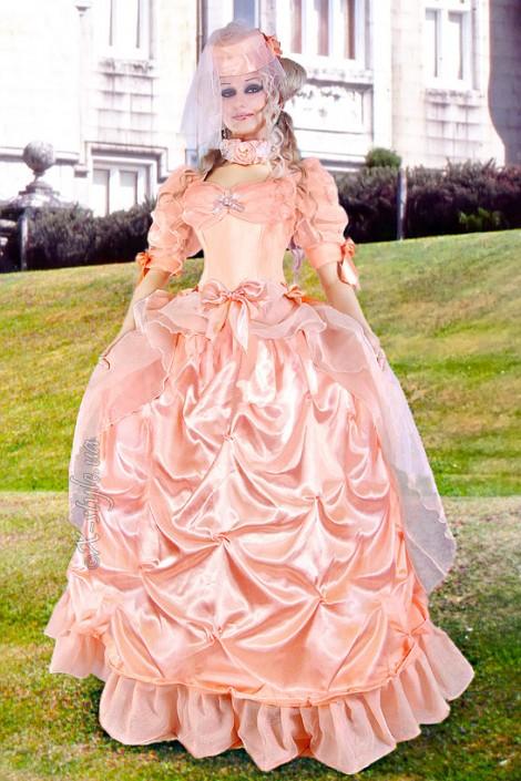 Бальное Викторианское платье 2 пол. 19 ст. (125027r)