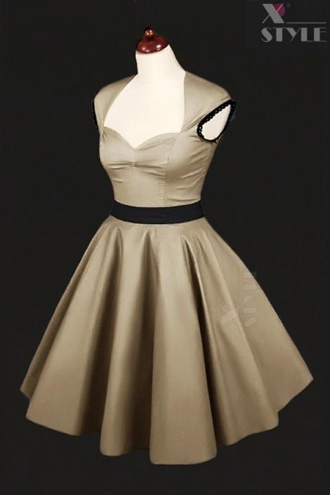 Платье в стиле 50-х с подъюбником (105169)
