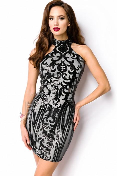 Облегающее платье с блестками A5200 (105200)
