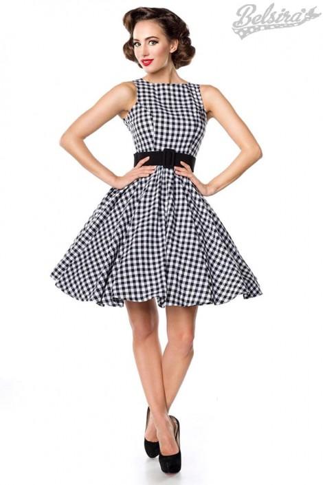 Платье в стиле 50-х с поясом (105251)