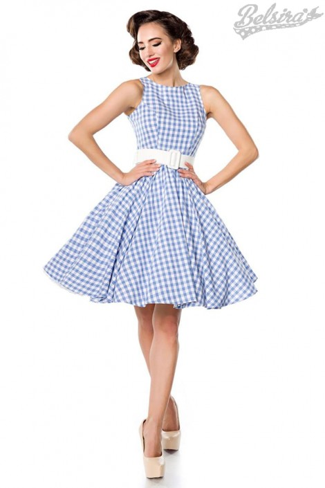 Хлопковое платье в стиле 50-х (105253)