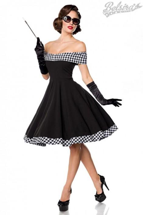 Ретро-платье с открытыми плечами (105254)