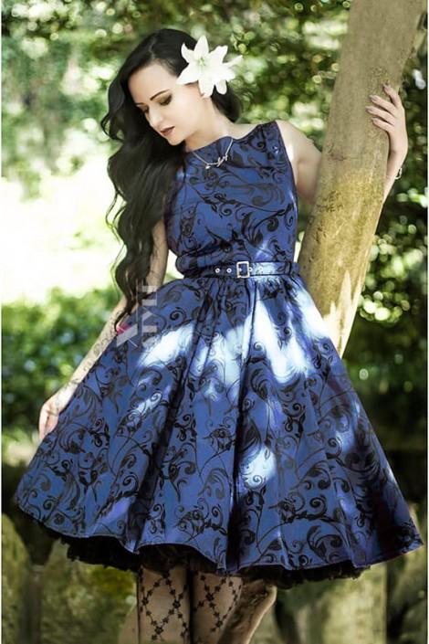 Синее платье в стиле Pin-Up (105262)