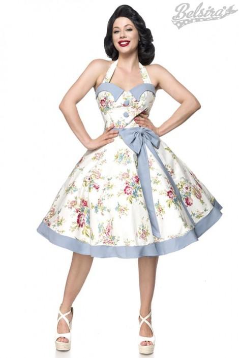 Ретро платье с винтажным узором (105264)