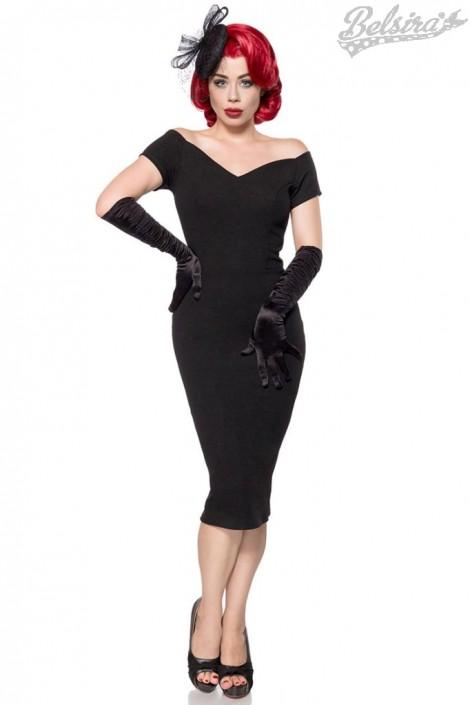 Черное платье в стиле Ретро Belsira (105266)