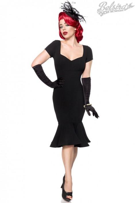 Черное ретро-платье с декольте B267 (105267)
