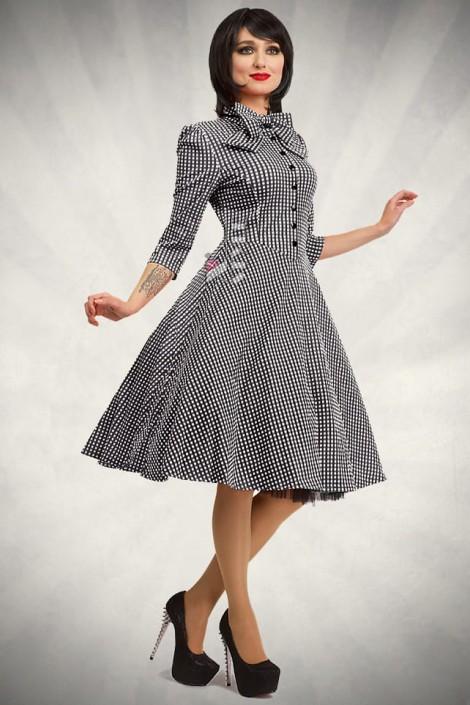 Клетчатое платье в стиле 50-х (105279)