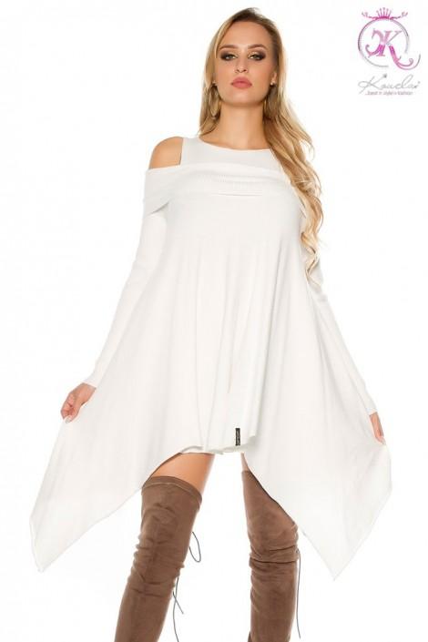 Біле асиметричне плаття KC304 купити недорого в Києві 68e6fee87940d