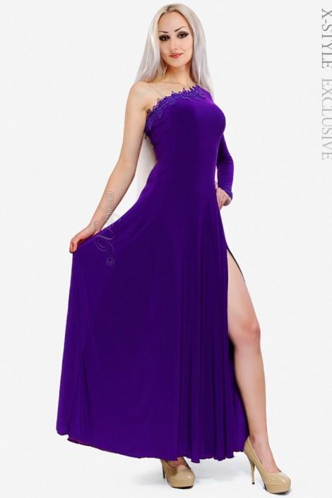 Длинное платье с разрезом Xstyle (105137)
