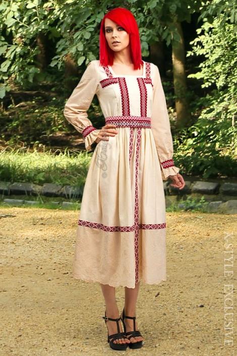 Летнее платье с вышивкой XT-244 (105244)