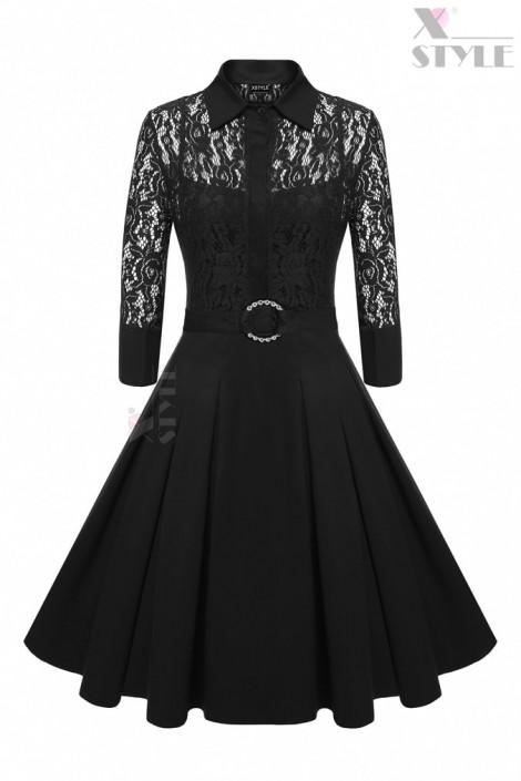 Винтажное платье-двойка (105221)
