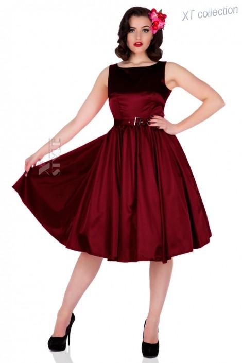 Плаття в стилі Ретро з поясом XC336 купити недорого в Києві b43d652807890