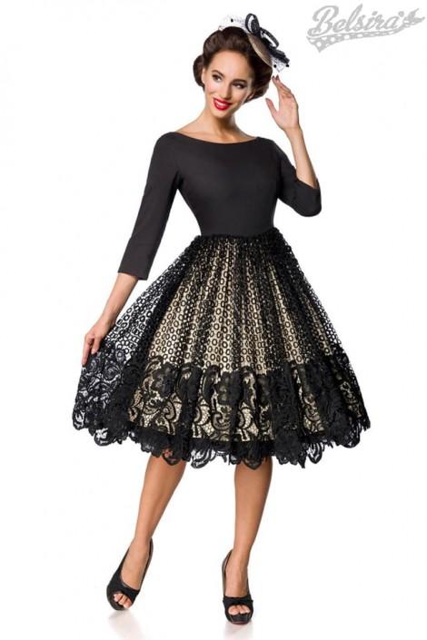 Винтажное платье с кружевом на юбке B5387 (105387)