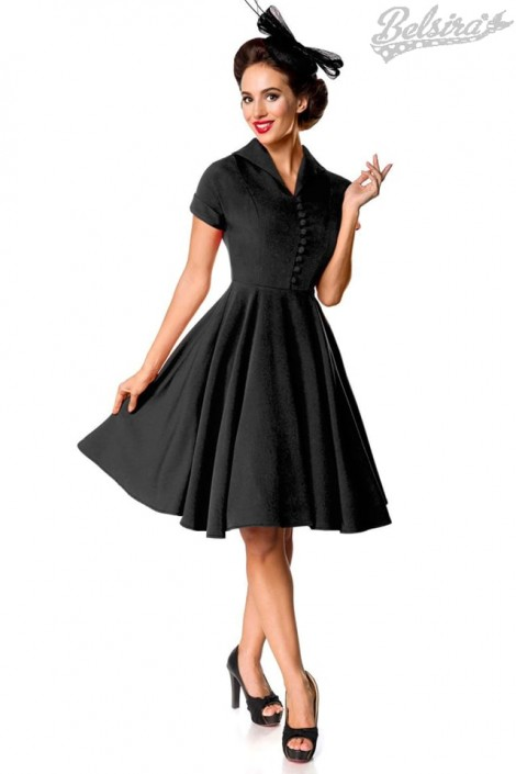 Винтажное черное платье Belsira Premium (105393)