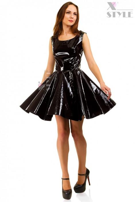 Платье клеш под латекс X-Style (105410)