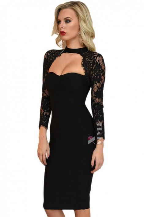 Бандажне плаття з чокером і болеро купити недорого в Києві f53122dd29257
