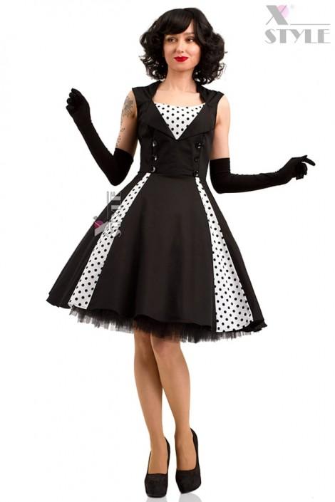 Чорно-біле плаття в стилі Ретро X5338 купити недорого в Києві ... f90c96b5c1132