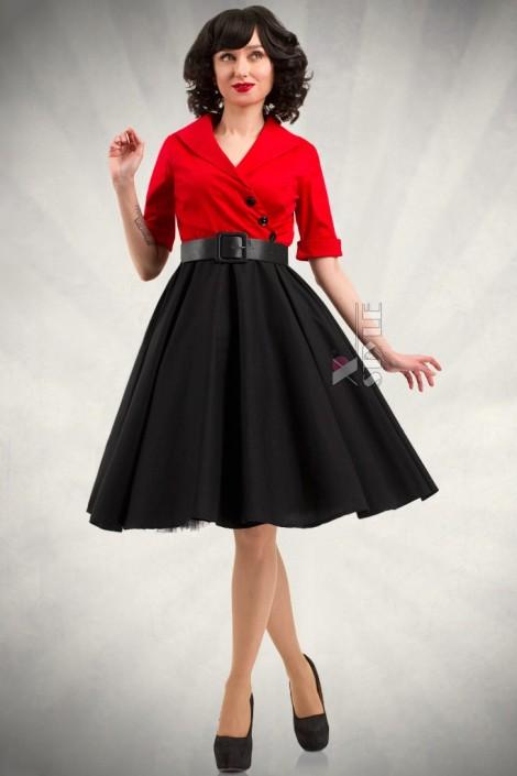 4e6c3558be46 Платье в стиле Ретро с декольте и поясом купить недорого в Киеве ...