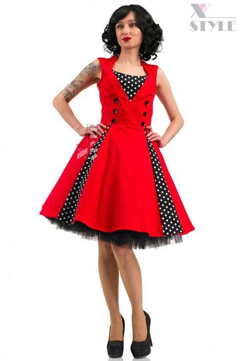 Красное платье в стиле 50х X5345 (105345)