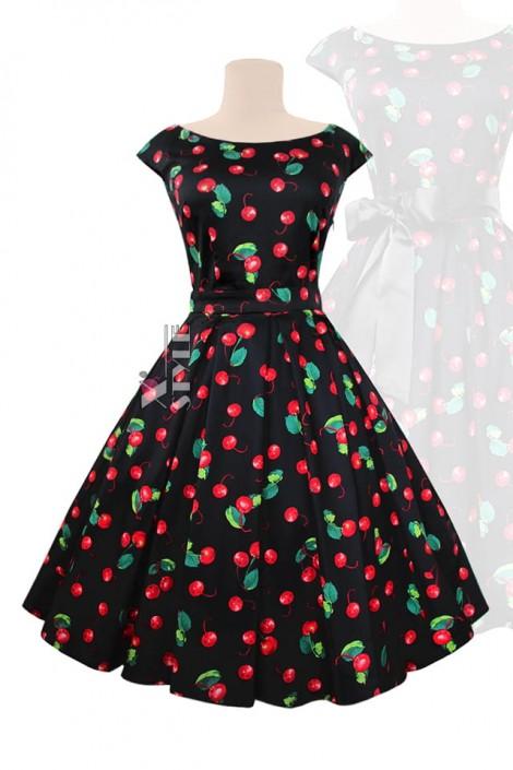 Платье Рокабилли с карманами и поясом (105356)