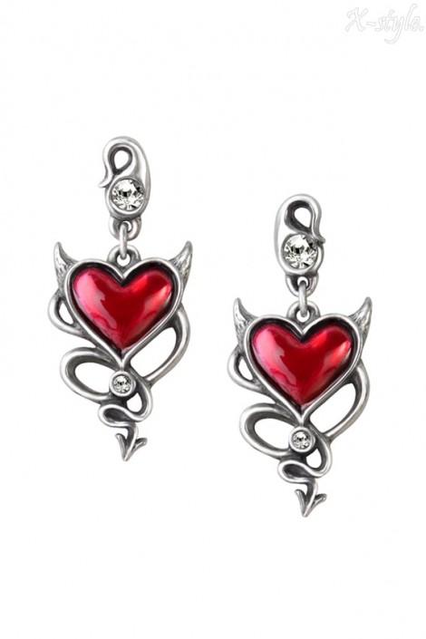 Серьги Devil Heart (ULFE22)