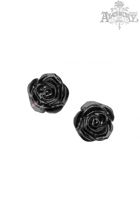 Серьги-гвоздики Black Rose (AGE339)