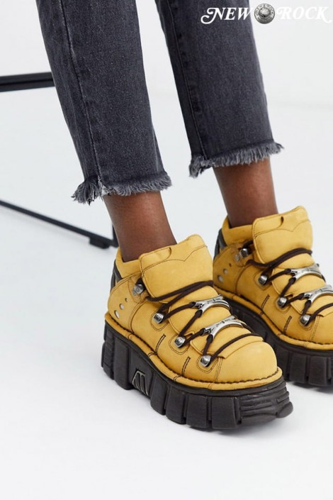 Кожаные кроссовки на платформе New Rock SAPELI (106-C74SAPELI)