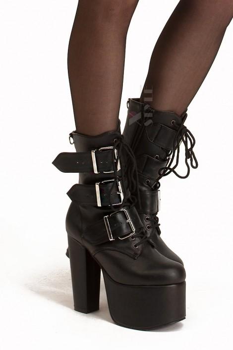 Ботинки на платформе и каблуке Demonia (310011)