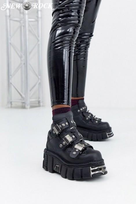 Кожаные кроссовки на платформе с шипами 135S1 (M135-S1NOMADA)