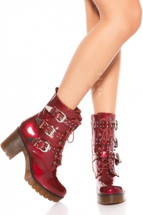 Ботинки красные женские MF46PAT (310046)